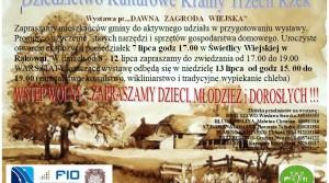 """Wystawa – """"DAWNA  ZAGRODA  WIEJSKA"""""""