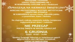 Kiermasz szkolny 06 XII 2014